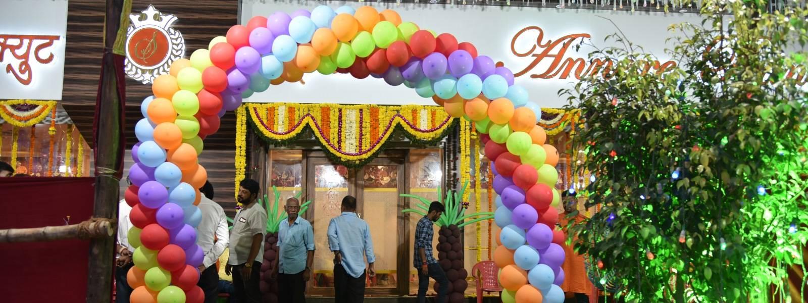 Balloon Entrace at Sarovar Annexe Banquet Kamothe
